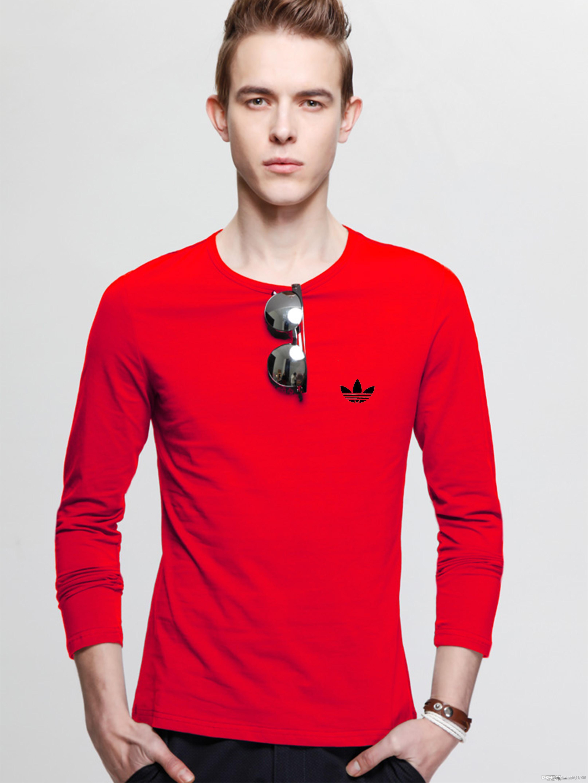 İnce t - uzun gömlek erkekler - kollu ilkbahar ve sonbahar stil rahat kıyafet - eğilim sonbahar giysi Kore versiyonu aşağı
