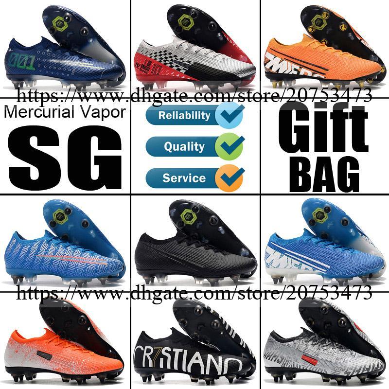 2020 أحذية الأصل زئبقي الأبخرة XIII XII SG لعبة كرة القدم الجديدة رونالدو CR7 نيمار في الهواء الطلق المسامير رجل ACC كرة القدم المرابط أحذية كرة القدم