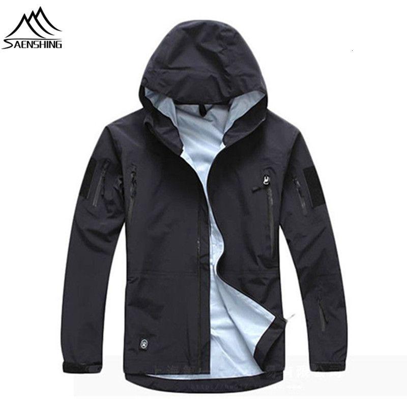 SAENSHING outdoor waterproof jacket Camo Tad military Tactical jacket hunting clothes camping TAD softshell jacket windbreaker T190919