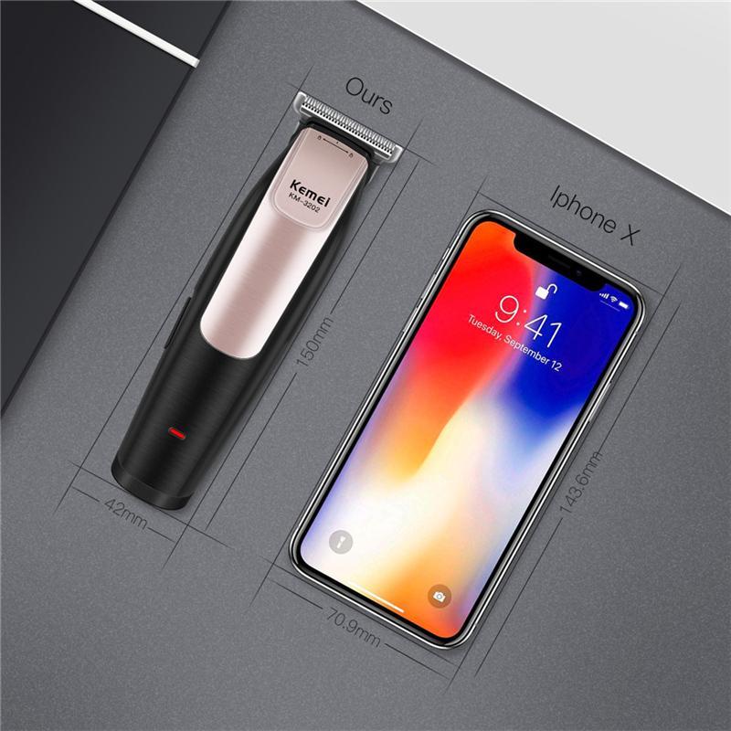 Kemei KM - 3202 USB аккумуляторная электрическая машинка для стрижки волос Триммер для стилизации лучший мужской pube триммер sweet07 Ukocm