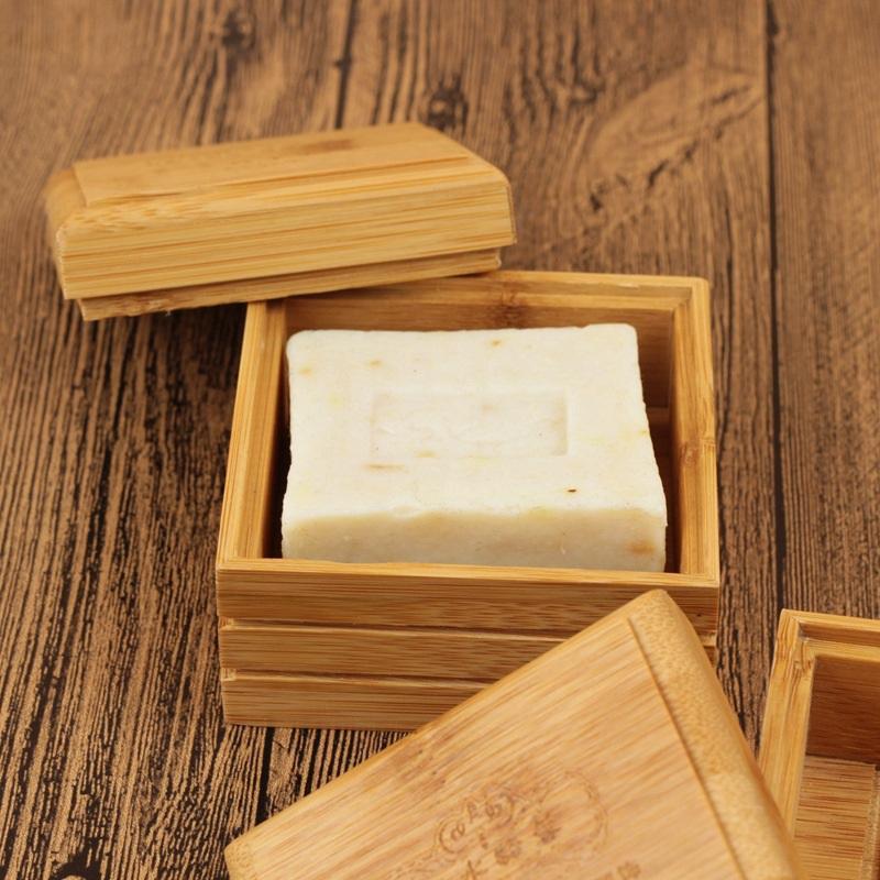 Pratos de sabão de bambu simples Natural Soap Box Titular escorredor Bandeja de bambu para Bath Shower Acessórios HHA1166