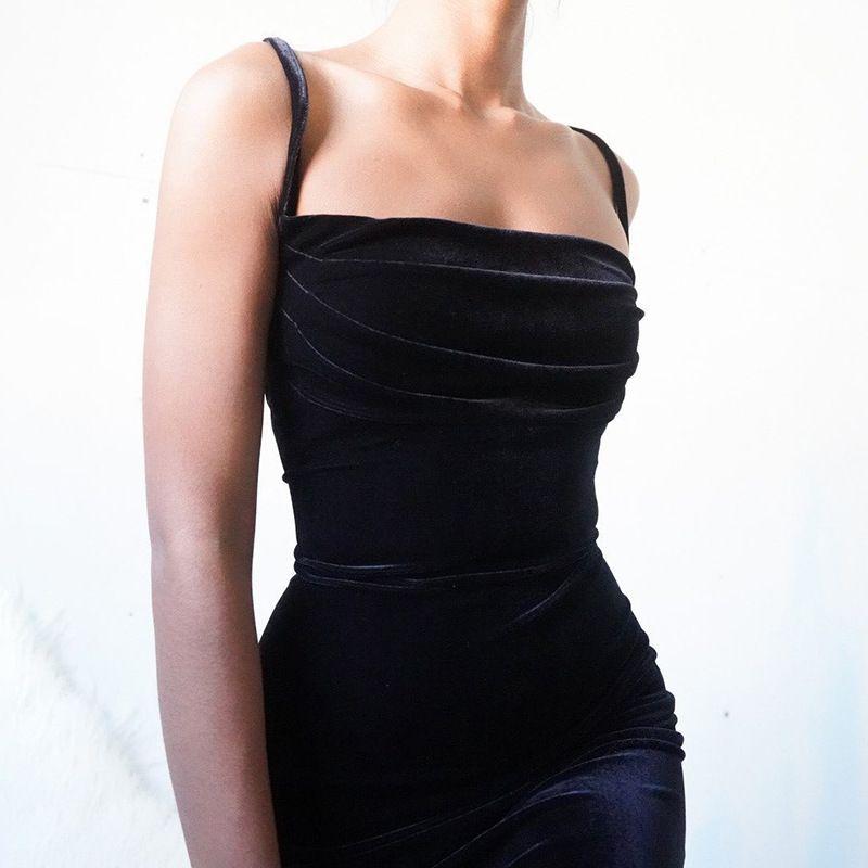 Moda Kadınlar Seksi Elbise 2020 Yaz Siyah Kadın BODYCON Elbiseler Lüks Kadınlar Partisi Yüksek Kalite Elbise Toptan PH-YF202243