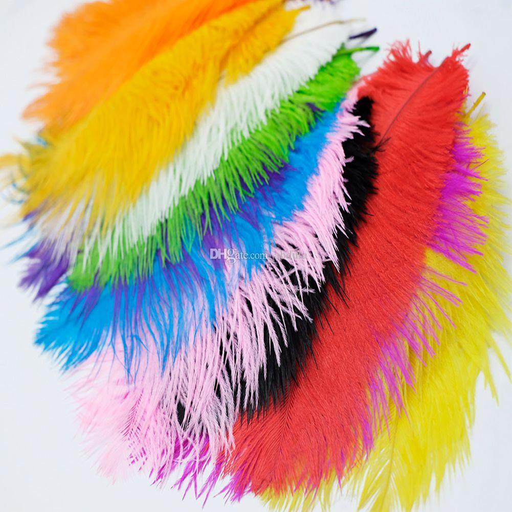 """Las plumas 50pcs pluma de la avestruz Penachos 30-35cm (12-14"""" ) Centro de mesa vendedores calientes de la avestruz de Centros de mesa muchos colores y tamaños"""