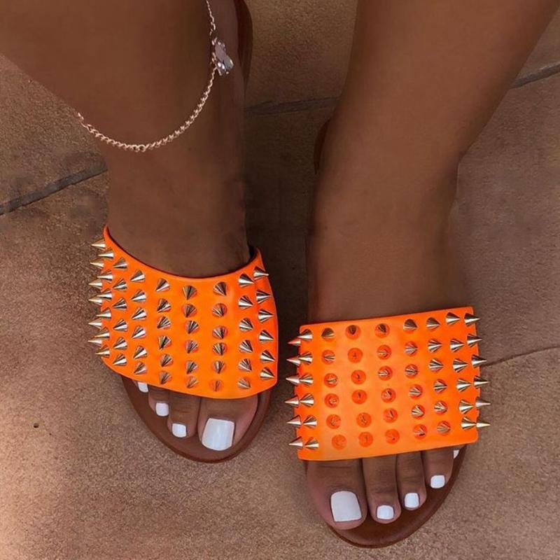 여성 플랫 비치 신발에 2020 여성 슬리퍼 여름 신발 오픈토 슬립을 Litthing Sandalias 여성 플립 37-42 퍼