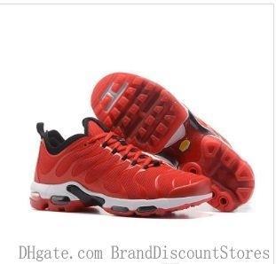 2019new Tn Além disso Homens Running Shoes respirável Formadores Sports Mens sapatos Black Red White Casual Homens Outdoor S Esporte tamanho da sapatilha