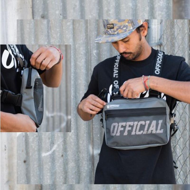 Street Style Военный Chest Rig сумка для мужчин Black Hip Hop Functional талии пакеты Регулируемые сумки жилет Жилет Мода Грудь SH190924