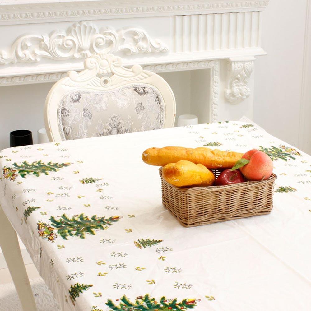 Noel Masa Örtüsü Masa Örtüsü Tafelkleed Tek Merry Christmas Dikdörtgen Baskılı PVC Karikatür Masa örtüsü 110 * 180cm # 37