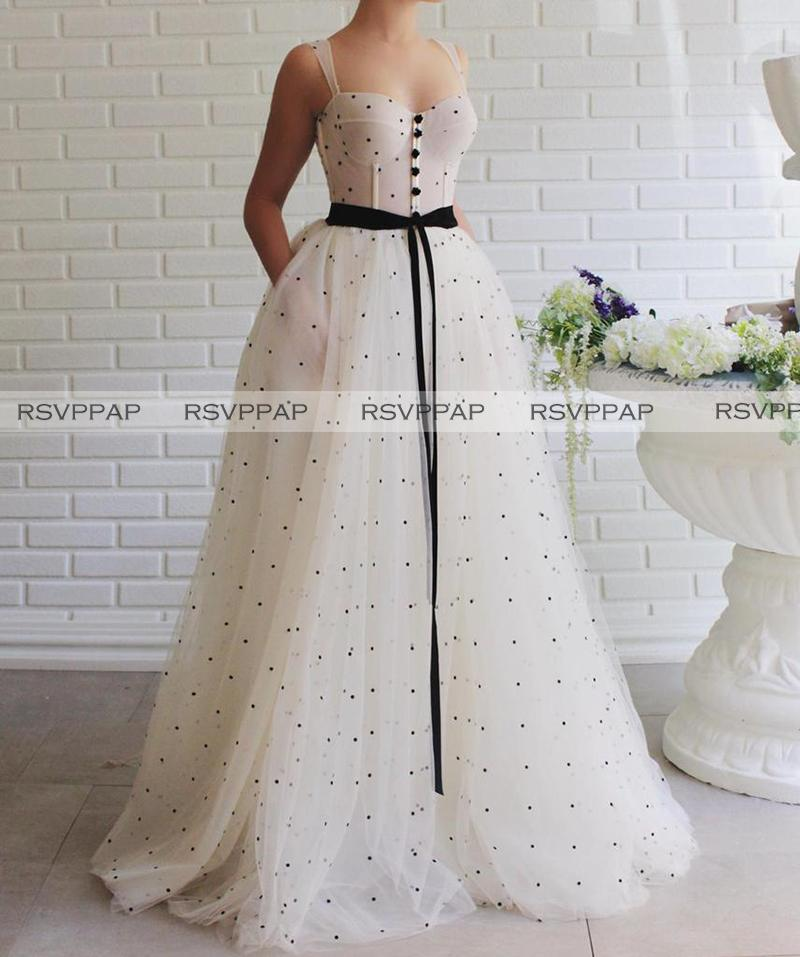 Ivory Long Prom Evening Dresss Elegant Women Formal Gowns Abendkleider With Black Sash