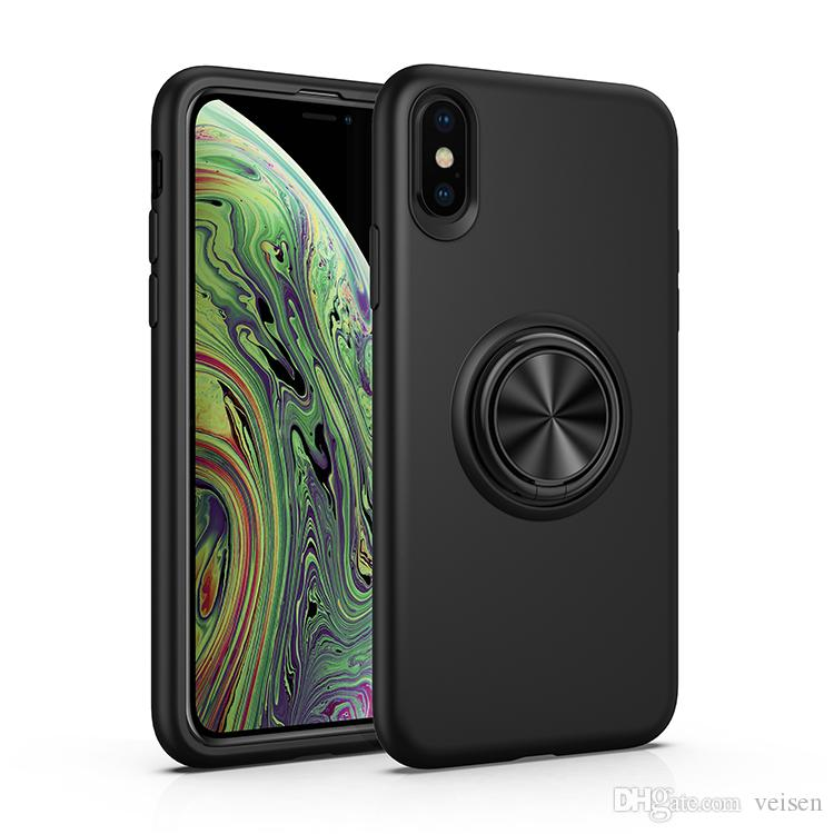 Kickstand Ring Cases With Magnetic Car Soft Cell Phone Case For iPhone X XR XS Max 7 8 Plus Shockproof Cover