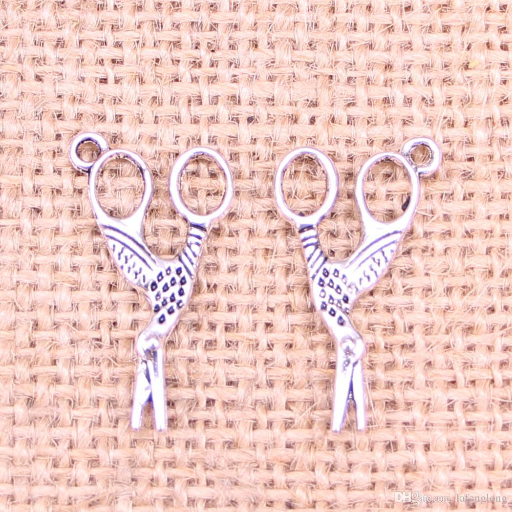 92шт Античное серебро покрытием шитье ножницы подвески подвески подходят для изготовления браслет ожерелье ювелирные изделия выводы ювелирные изделия Diy ремесло 28*15 мм