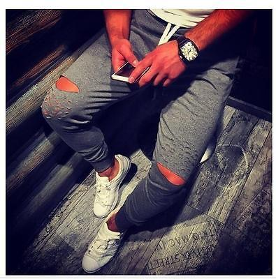Mens BASIC JOGGER Pantalon molleton Urban Harem Slim Fit élastique danse Hip hop