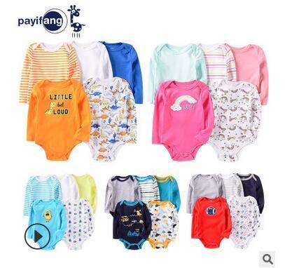 larga de manga corta escalada PA Yi colmillo de una pieza de ropa de bebé exclusivos transfronterizas 2020 primavera ropa de bebé de algodón puro