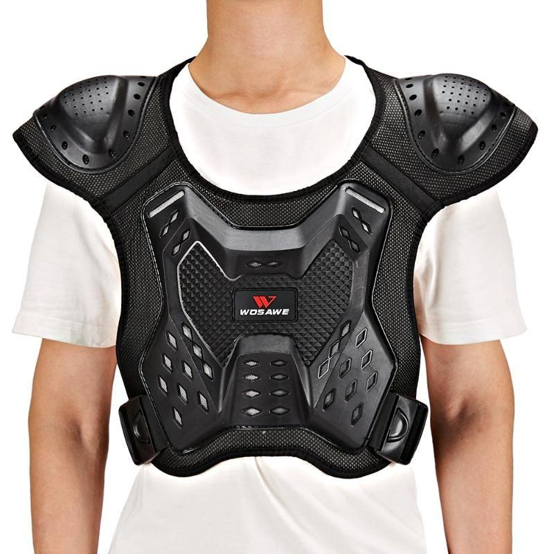 WOSAWE unisexe moto Armure Veste Motocross Armure Gilet épaule poitrine Protection des mains Joint Spine vitesse poitrine
