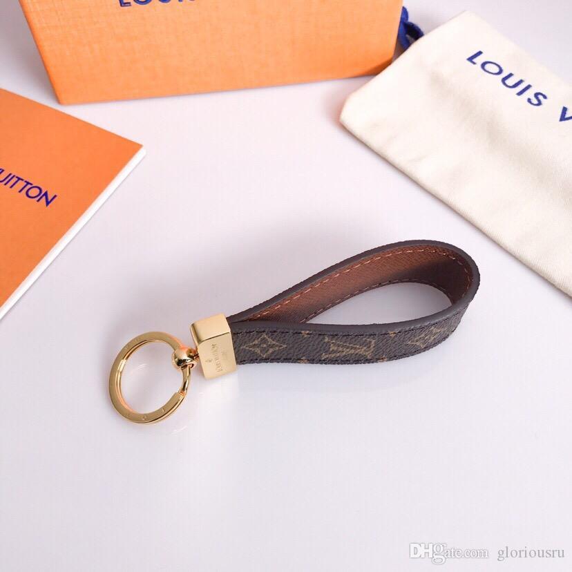 2020 hohe qualtiy Keychain Schlüsselanhänger Schlüsselanhänger Halter Schlüsselanhänger Porte Clef Geschenk Männer Frauen Souvenirs mit Kasten JAK89A
