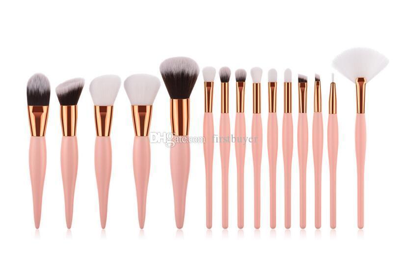 15 adet Makyaj Fırçalar set Güzellik Araçları pembe kolu Alev fırçası Fırça Göz Farı Fırça Seti