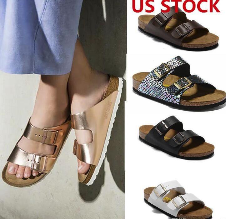 US STOCK, Arizona New Summer Beach Cork Slipper Flip Flops Sandals Women/MenMixed Color Casual Slides Shoes Flat Free Shipping 36-46 fy9066