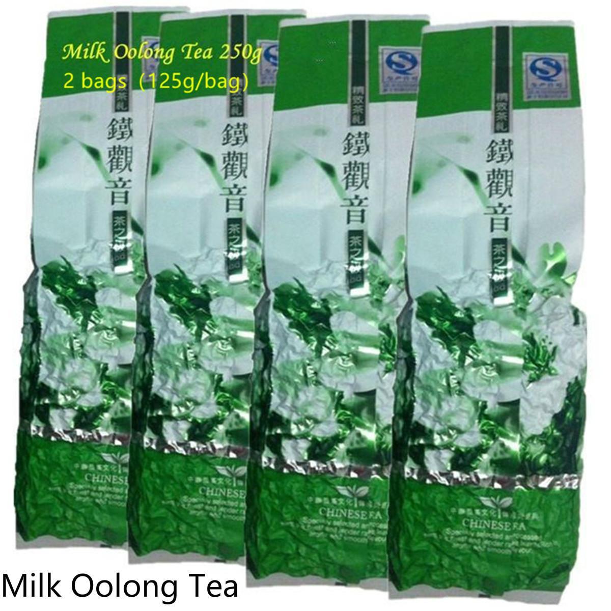 2 paquets de vide Fragrant type traditionnel chinois Lait Thé Oolong Tieguanyin Thé vert Nouveau thé vert printemps nourriture 250g préférés