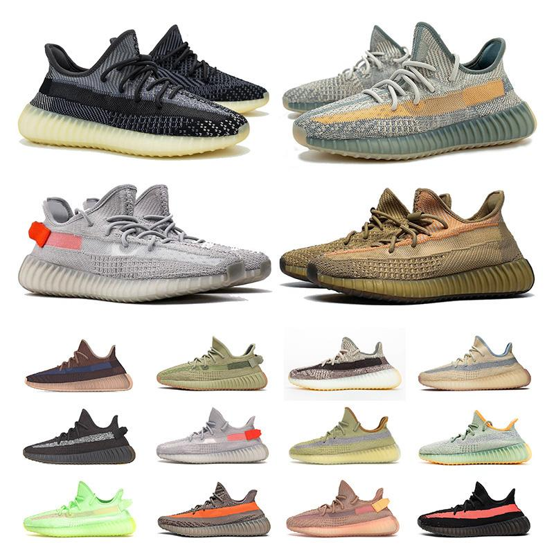 2020 New Arrivals Stock x 3M Running Shoes for Mens Womens Luxury Designer Sneakers israfil Tail Light Earth Linen Static Trainers Size 13