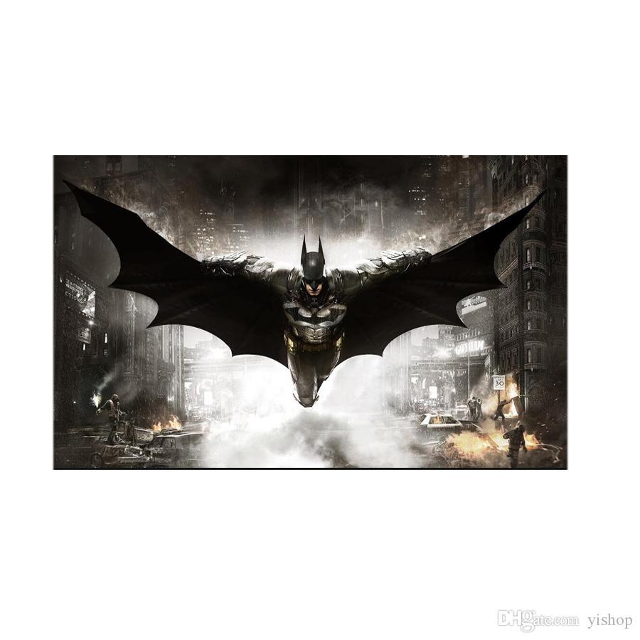 Großhandel Batman Metall Malerei Martin Blechschilder Zinn Malerei 20 * 30 cm Bar, Cafe, KTV Home Bar Wanddekor Metall Malerei
