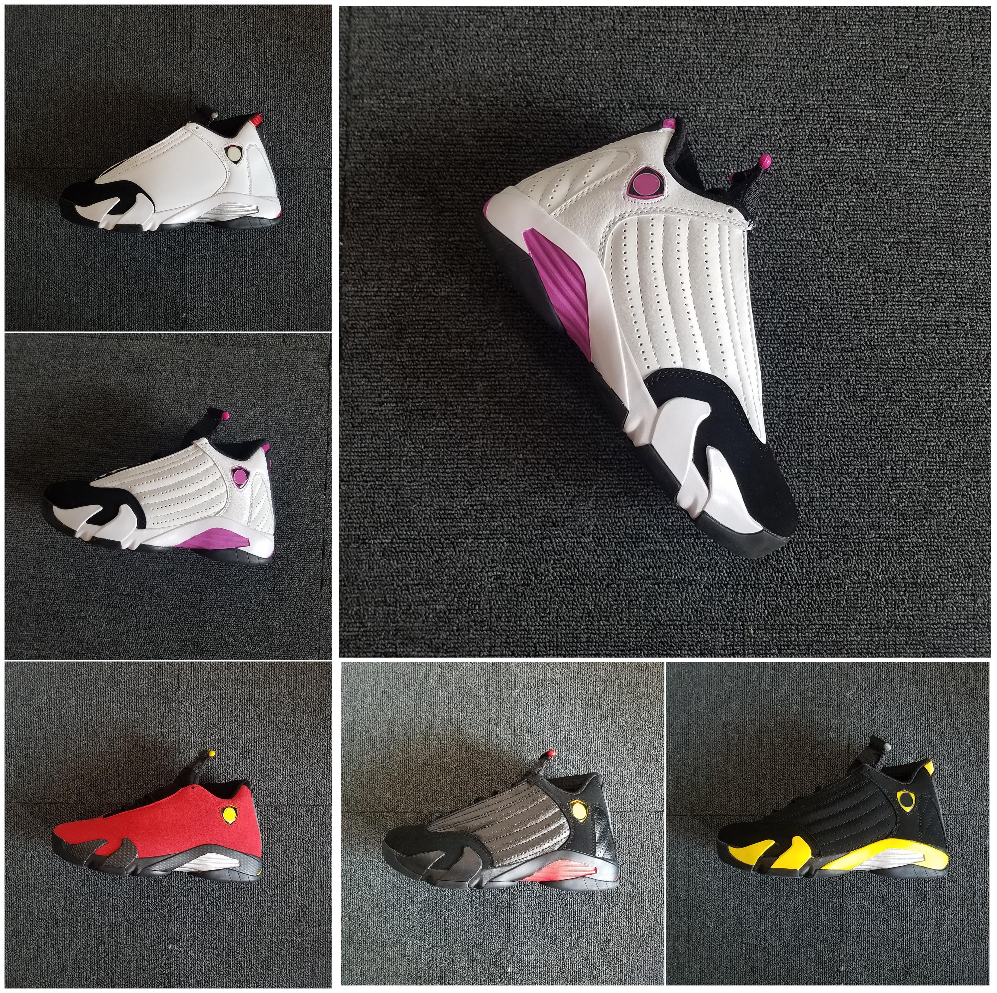 Belle Femmes Hommes 14s Basketball Chaussures Designer Cheap Last Shot moments marquants Blanc Candy Cane Noir 14 Chaussures de sport Chaussures de sport