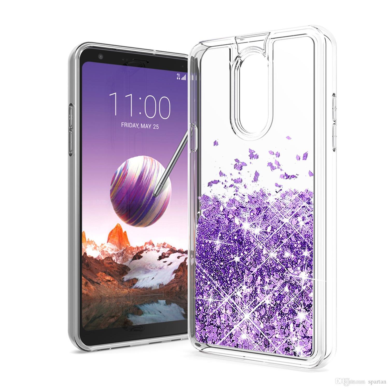 iPhone 12 Pro Max 11 XR Glitter Case Quicksand TPU 액체 스타 블링 커버 LG Stylo 6 K51 Aristo 5 삼성 A01 A21 A51 A11