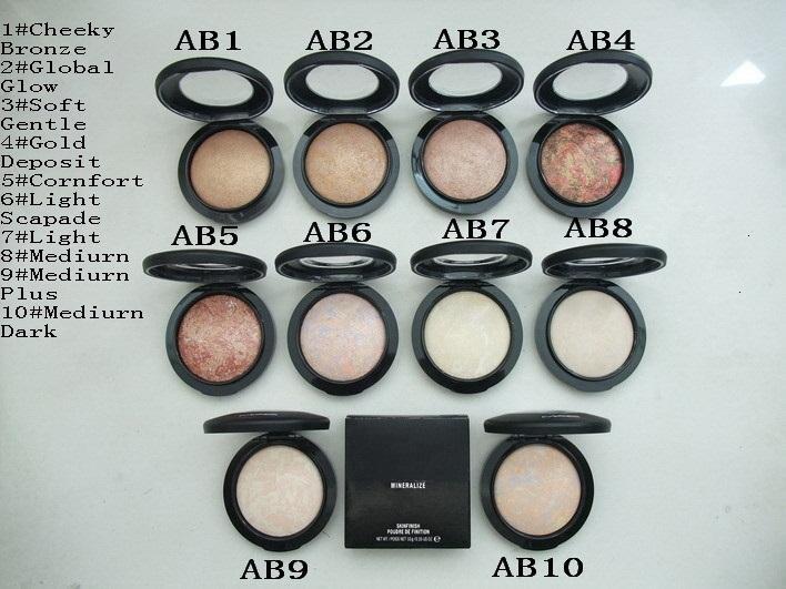 NUEVO maquillaje Mineralize Skinfinish Poudre De Finition Face Powder 10g, 10 colores DHL envío gratis