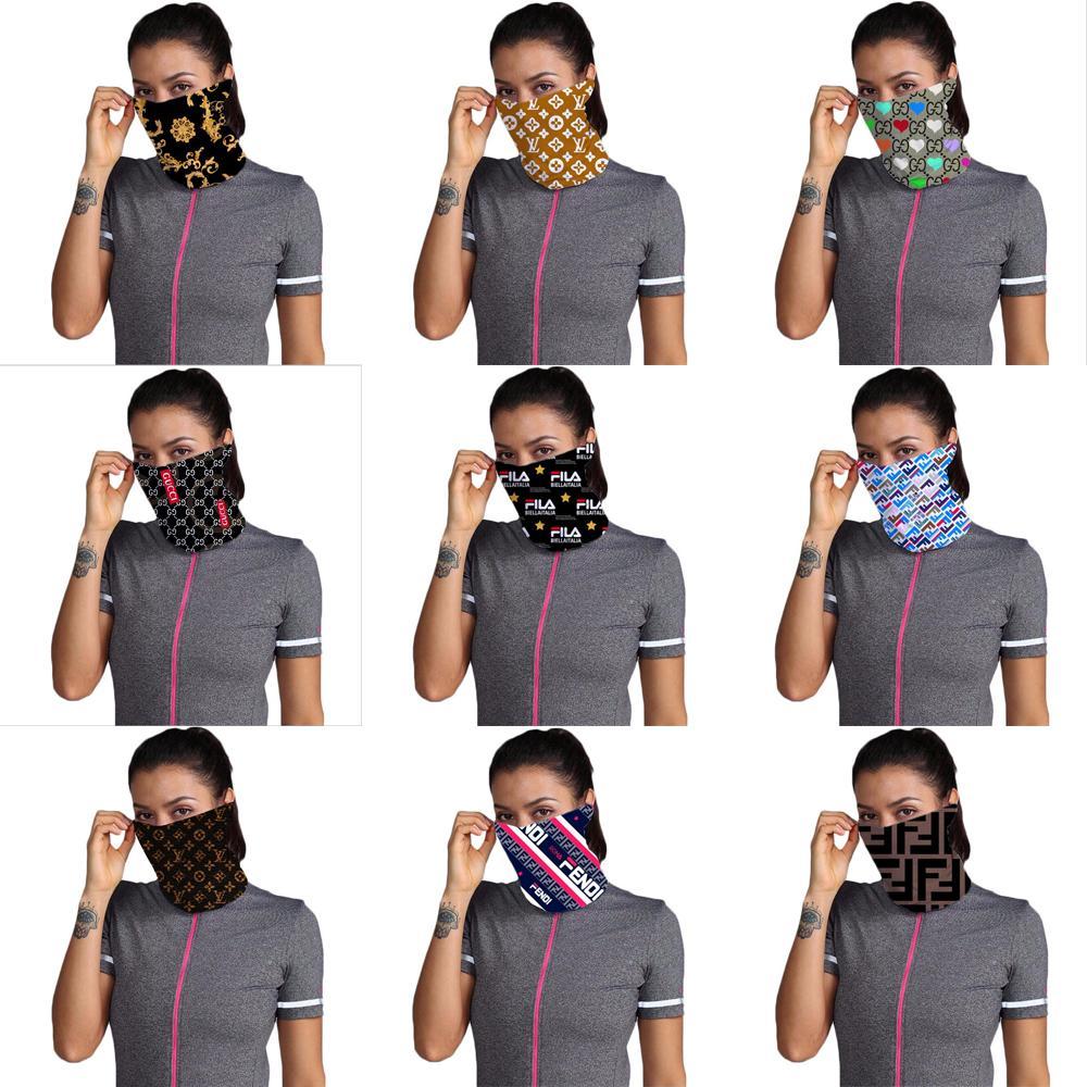 2020 Designer Masques extérieur Faire du vélo Visage Bandanas luxe Foulard Bandeau Foulard Lavable Cap Bandeaux Foulards demi-masque visage