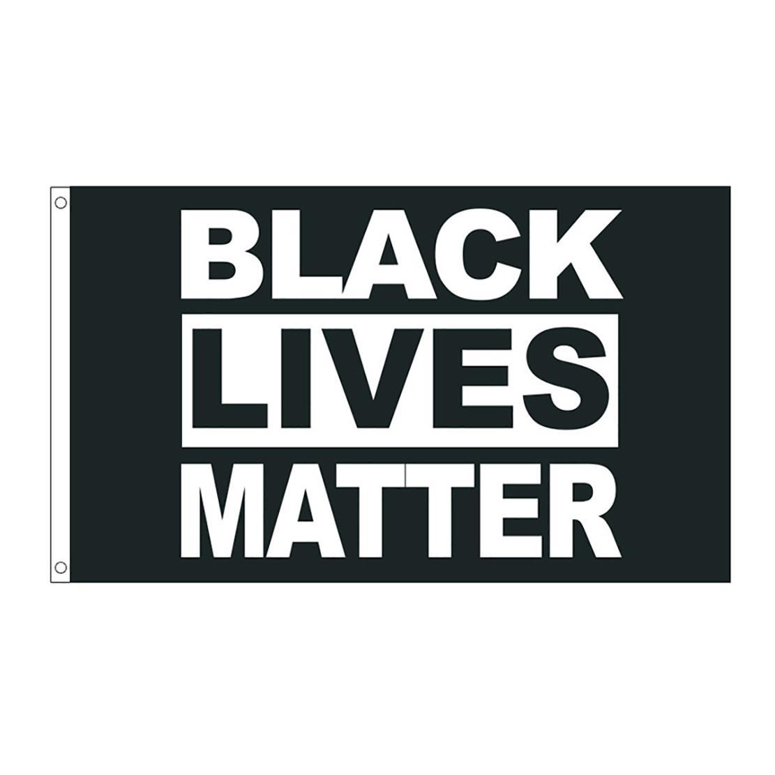 50pcs direkte Fabrik Großhandel 90 * 150cm 3x5 fts Schwarz Lives Matter Flagge BLM Frieden Protest Außen Banner
