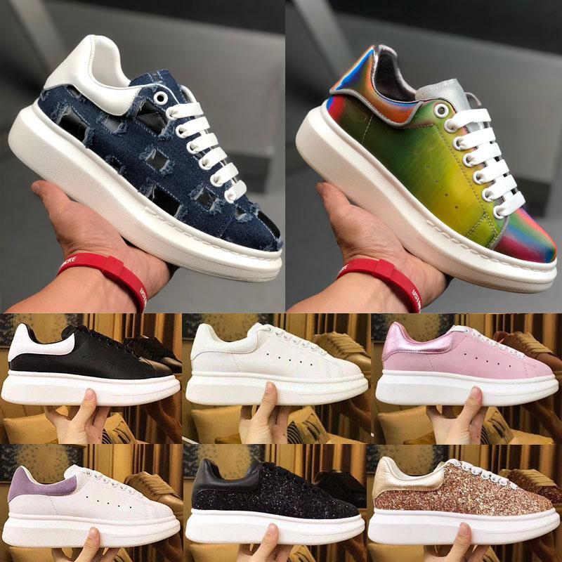 2020 de lujo de diseño plataforma del cuero de los hombres de la vendimia de las mujeres zapatillas de deporte de la mejor calidad de la manera zapatos planos al aire libre del partido del vestido diario de zapatos casual