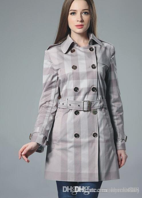 Temperament der Frauen Trenchcoat High-End-OL Windjacke Mantel 2020 Frühling-neue Dame Elegant Mantel Größe s ~ 2XL # 08
