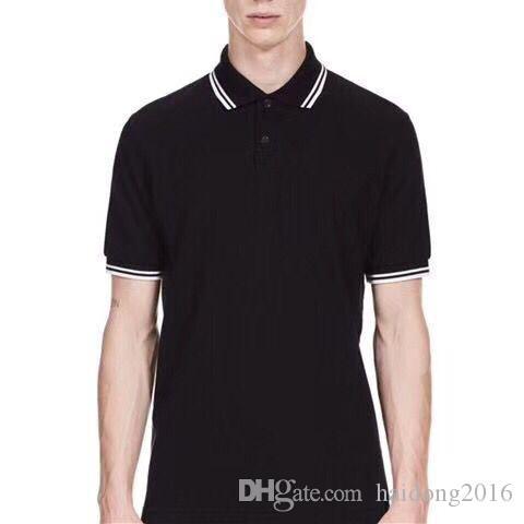 London Cotton brit Polohemden Kleidung Männer Kurzarm-Polohemd Mann beiläufige Polos Tennis England Herren Herren T-Shirts Tops