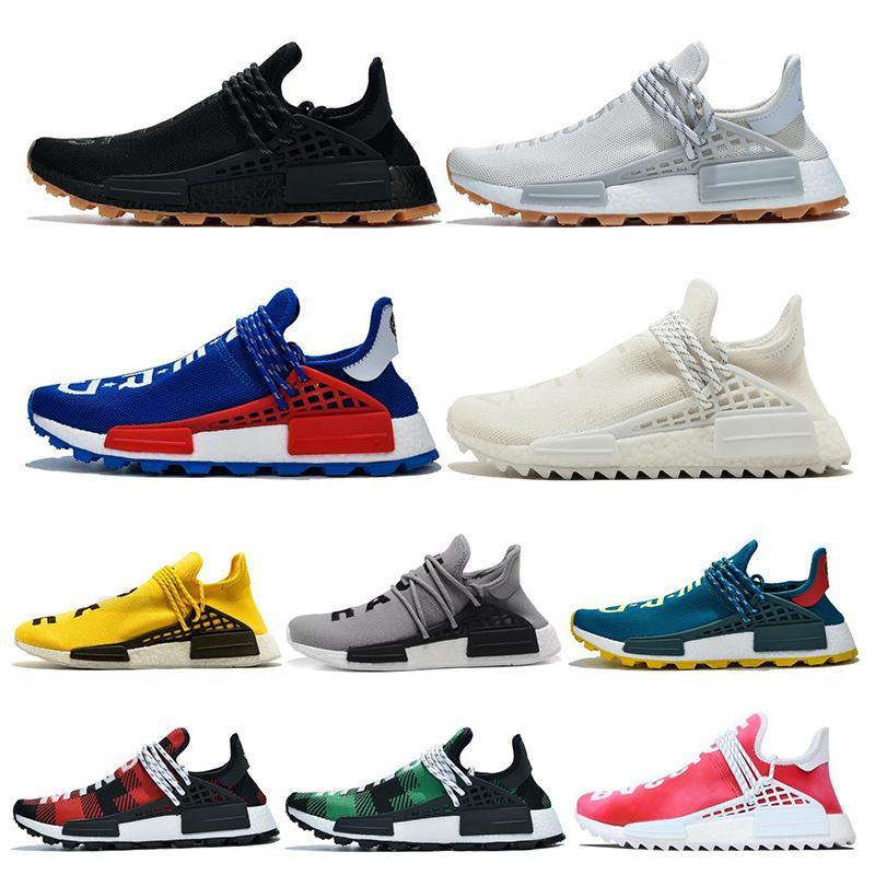 Adidas nmd human race Human Race Hu след Pharrell Williams мужчины кроссовки крем черный Nerd Know-Soul в Volt женские виды спорта кроссовки размер 36-45