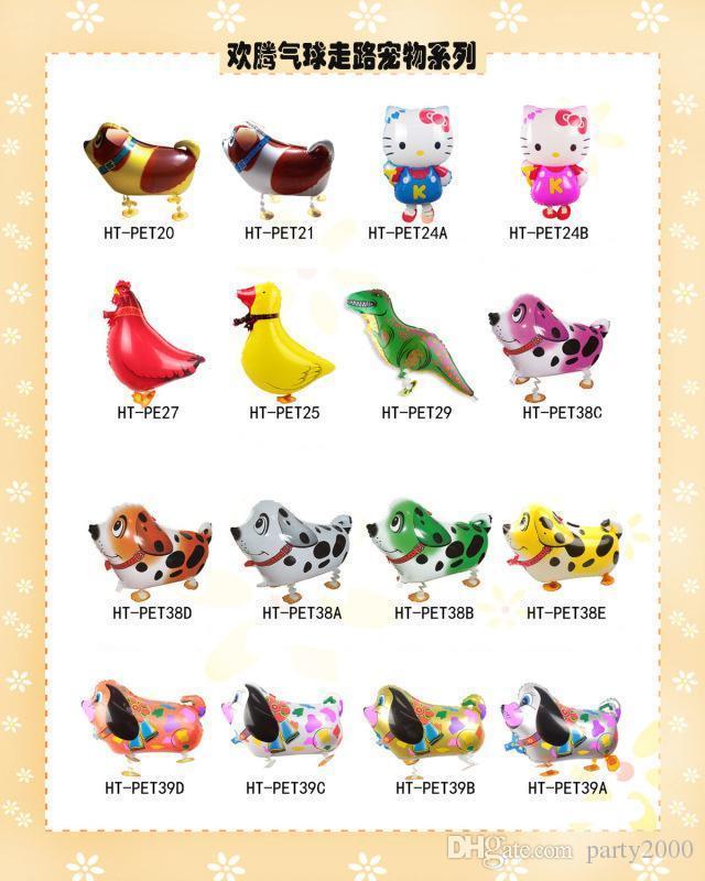 Noel Düğün Doğum Parti İçin Pet Hayvan Helyum Alüminyum Folyo Balon Otomatik Sızdırmazlık Çocuklar Balon Oyuncak Hediye Walking B11 Malzemeleri