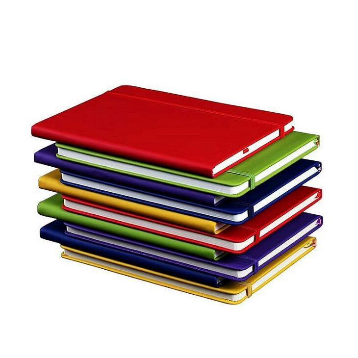 Gros! Relié portable A5 Collège a statué épais Classique écriture Portable PU En Cuir Avec poche élastique Fermeture Bandes Journal Livre