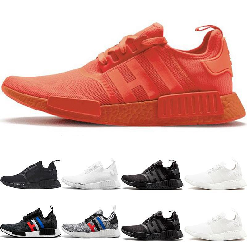 Wholesale Sneakers Running Shoes Triple black White Solar Red Oreo Men Women Designer Trainer Sport Sneaker Size 36-45