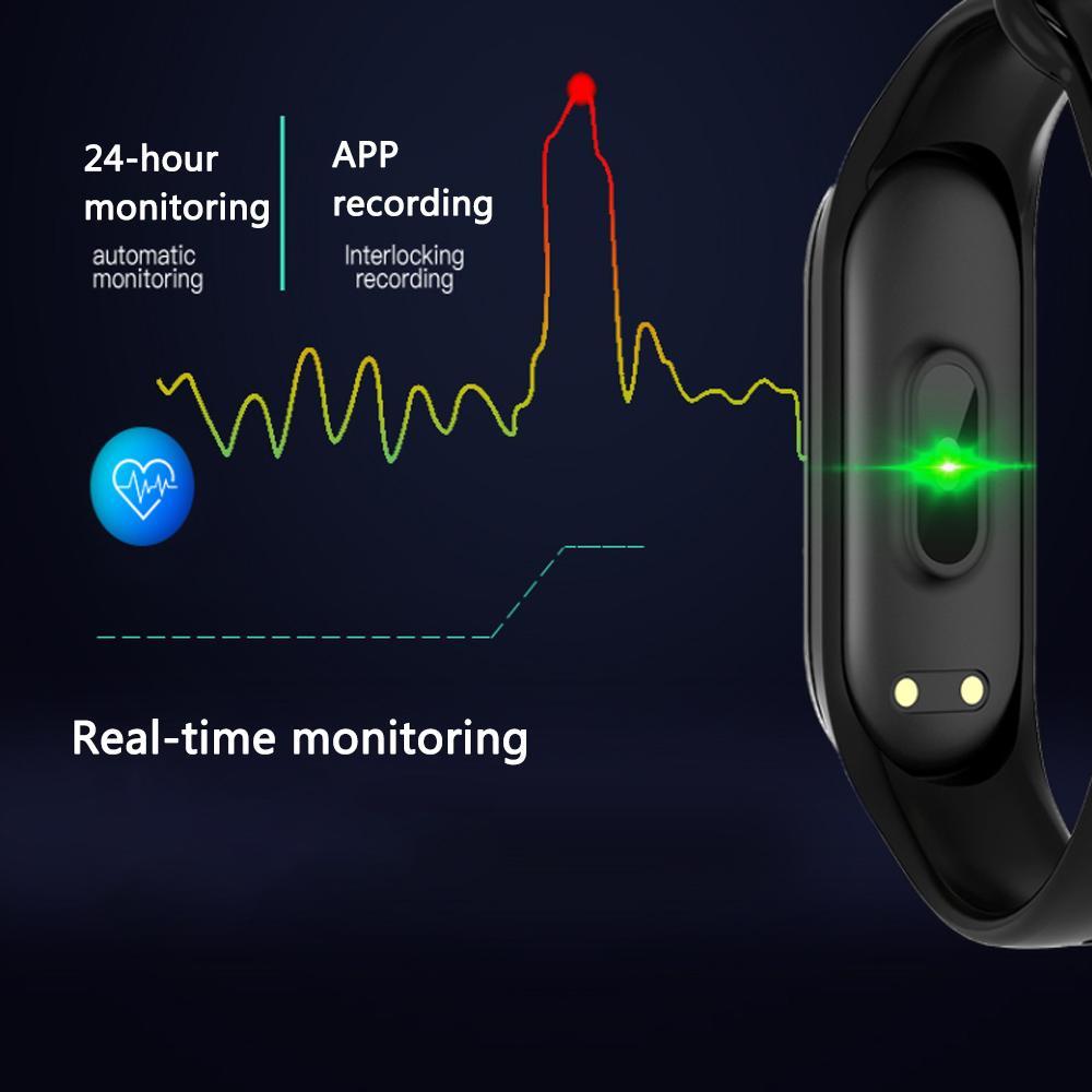Rovtop M4 Мужские часы Смарт Смарт браслет 4 Спортивные часы кровяного давления Монитор сердечного ритма Фитнес Tracker SmartWatch Браслет