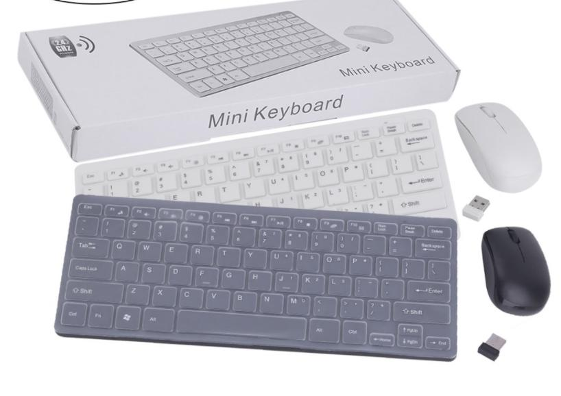 Guanwen Wireless Keyboard and Mouse PC 2.4GHz Compact Whisper Quite Keyboard and Mouse Combo with Nano USB Receiver for Laptop Notebook Color : Rose Gold