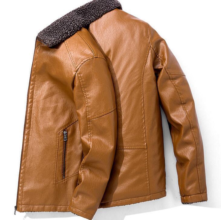 Autunno Inverno moda uomo risvolti più velluto giacca di pelle spessa nuovi vestiti sottili del cappotto del rivestimento rivestimenti della tuta sportiva