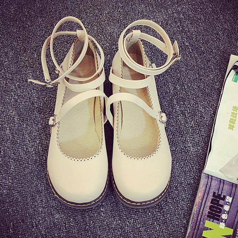 Büyük Sandalet Bayanlar CJ191226 Retro Yaz Sweet Kapalı Burun Flats Ayakkabı Ayakkabı Mori Kız Style Kadın Bilek Kayışı Mary Janes Ayakkabı