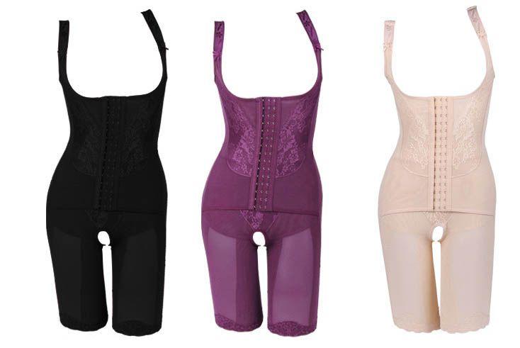 Women's High Quality Nylon Slim Corset Slimming Suits Body Shaper Charcoal Sculpting Underwear 5 Size Slimming Underwear