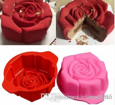New 3D Flower Silicone Molds Fondant Craft rose Cake Candy Chocolate Sugarcraft Ice Pastry Baking Tool Mould