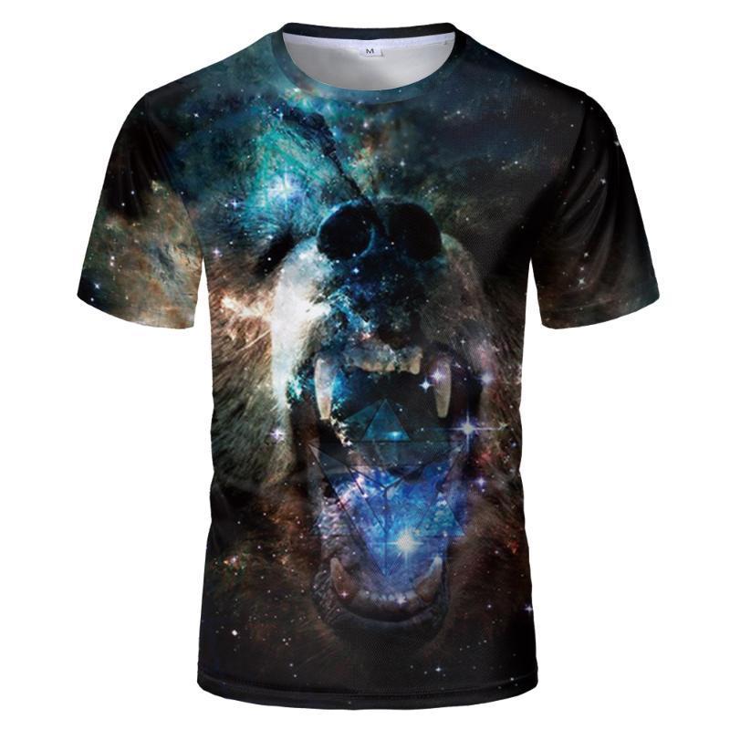 Neue Sommer-3d-T-Shirt Tier Hemd Nebel Lion Camiseta 3d T-Shirt Männer Lustige T-Shirts der Männer Kleidung beiläufige Eignung der Tiger-T-Shirt