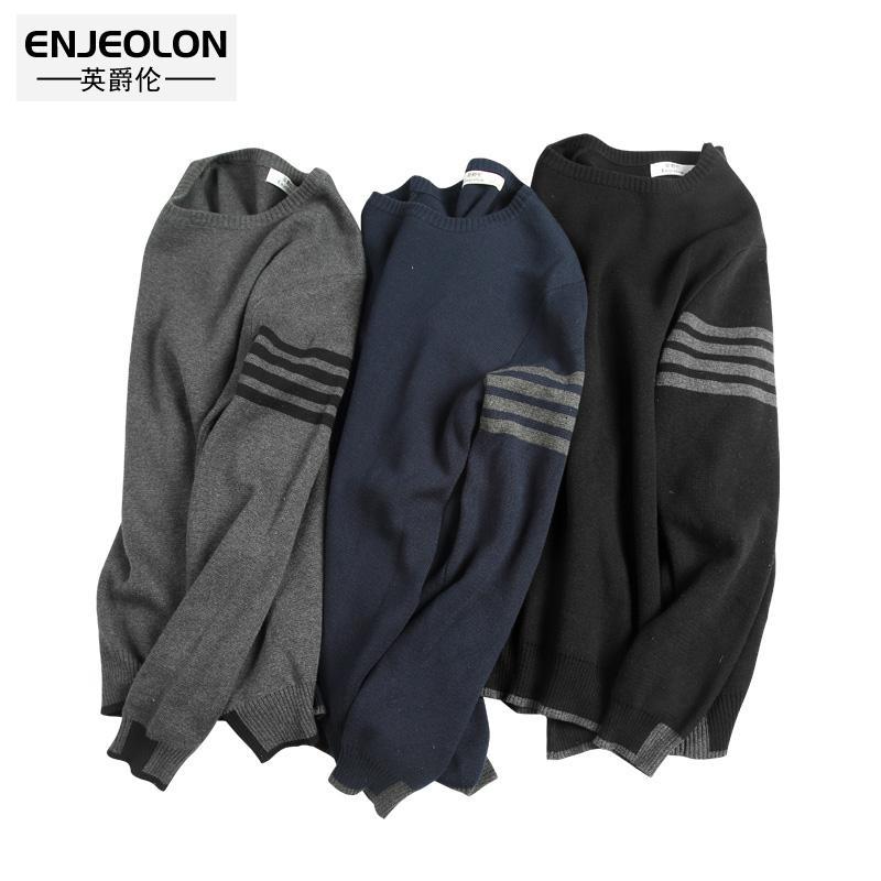 O collo Enjeolon invernale maglieria Pullover Maglioni Uomini maglione di cotone per gli uomini del maglione maschio casuale pullover Maglione MY3222 CJ191206