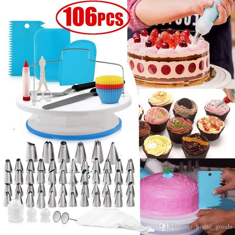 3X Cake Decor Brush Set Paint Tools Dessert Pastry Decor Best Cupcake Sugarcraft