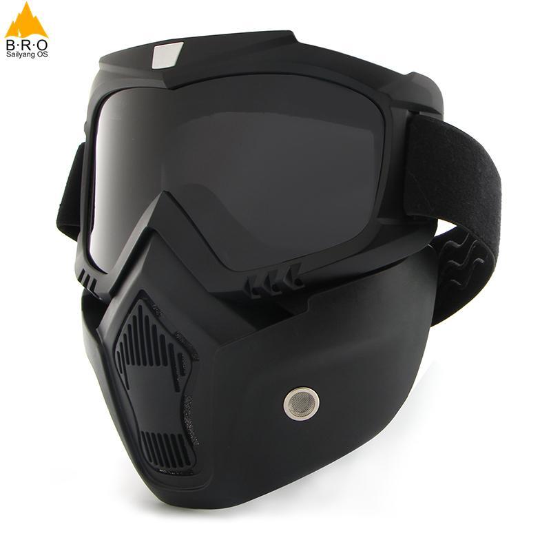 Bicicleta ciclista Máscara Completa Máscara À Prova de vento Cachecol Quente de Inverno Máscaras De Esqui Snowboard com óculos anti-UV Homens Mulheres