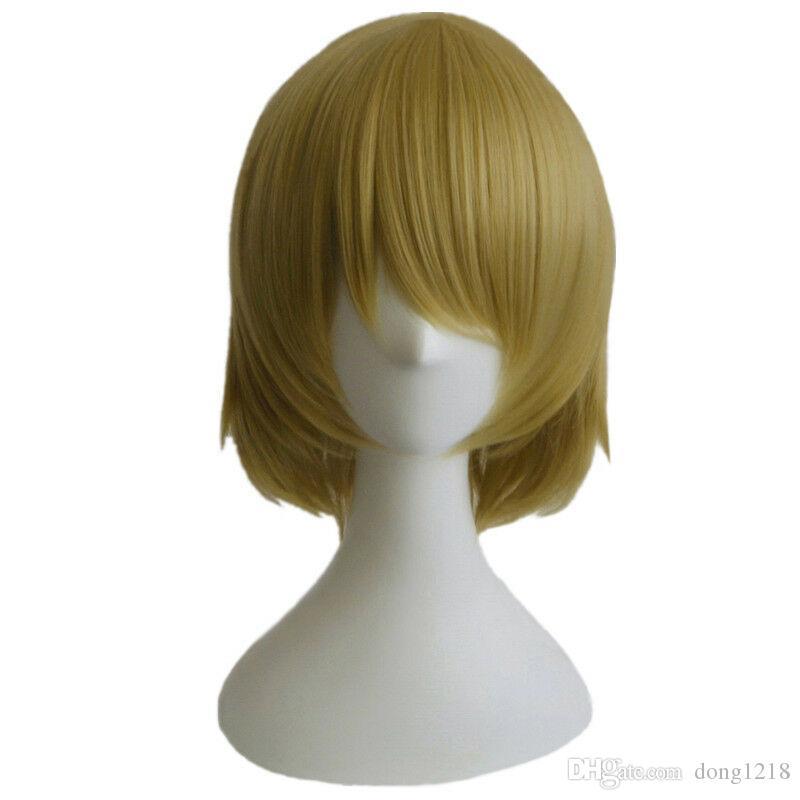 Love Live! LoveLive Koizumi Hanayo Cosplay Cheveux Courts Couleur Mixte Cos Perruque + Bonnet