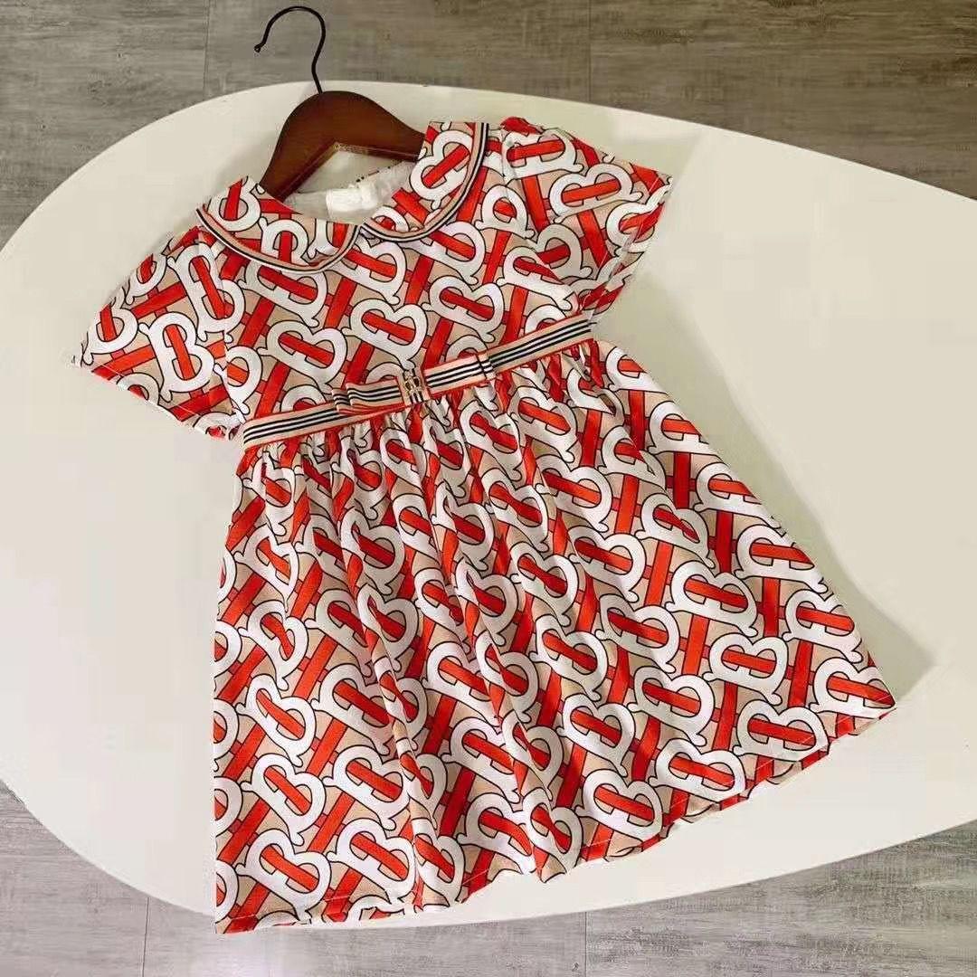 Bebés Meninas vestido Crianças lapela Vento Colégio bowknot manga curta plissada Polo Saia Crianças Roupa descontraída roupa dos miúdos 011112