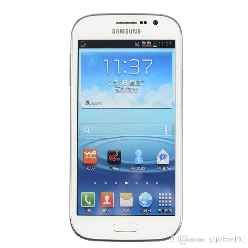 تم تجديده I9082 Original Samsung GALAXY Grand DUOS WCDMA 3G Dual Micro Sim 5inch 1GB / 8GB 8MP / 2MP Camera الهواتف الذكية صندوق مختوم اختياري