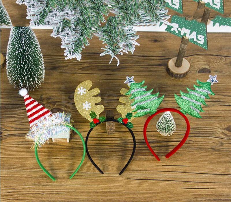 SANTA Bandeau Nouvel An 2020 Ornements de Noël Décorations pour enfants Girls Cadeaux Cadeau Bandeau Coiffeur Accessoires Fournitures DA076