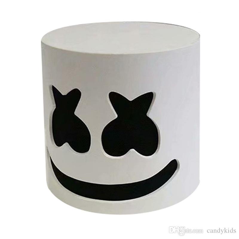 DJ Marshmello Halloween Cosplay Latex Mask Bar Music Prop Pillow Cover Plush Toy